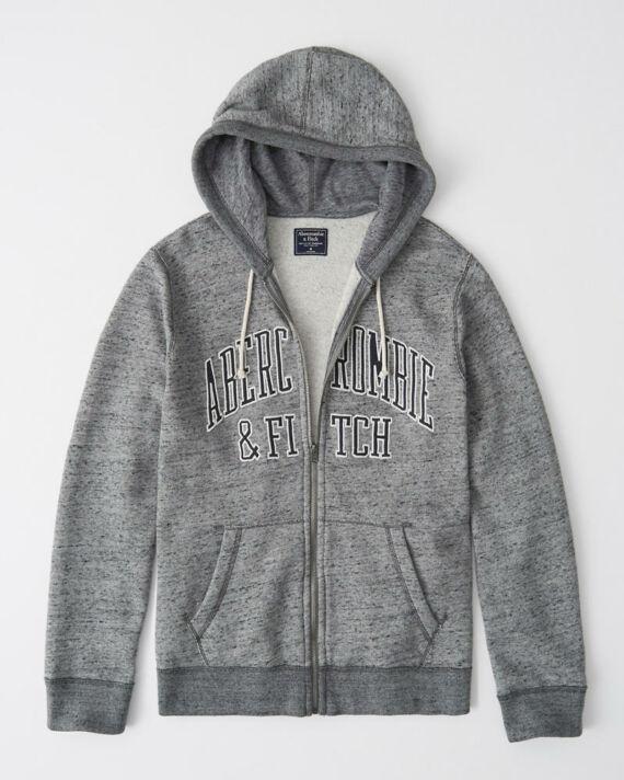Abercrombie kapucnis cipzáros pulóver