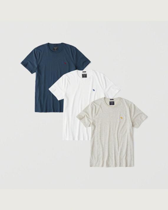Abercrombie  környakú pólócsomag 3db/csomag