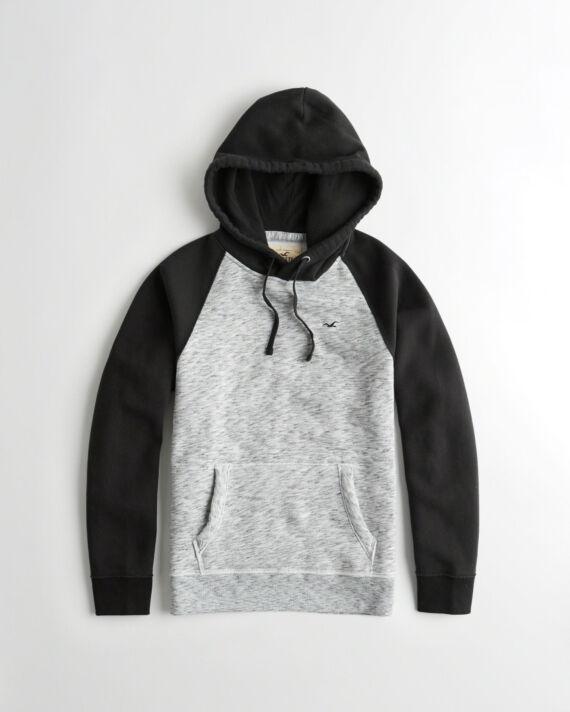 Hollister mintázott kapucnis pulóver