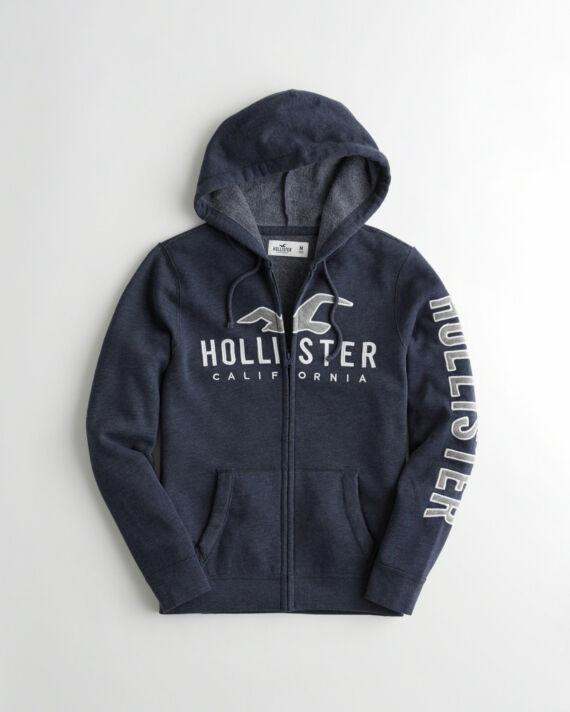 Hollister cipzáros kapucnis kardigán