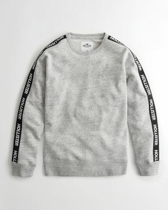 Hollister logó szalagos pulóver